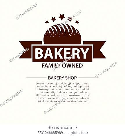 Bakery logotype. Bakery or bred shop vintage design element. Vector Illustration