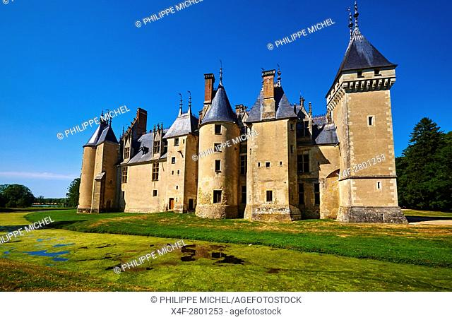 France, Cher (18), Berry, Chateau de Meillant castle, the Jacques Coeur road