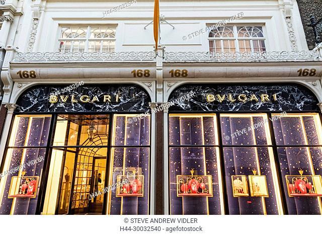 England, London, New Bond Street, Bvlgari Store