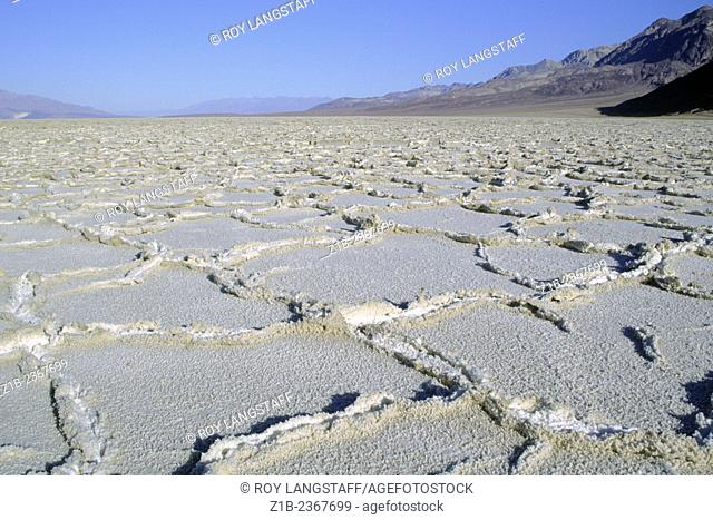 Salt flats in Death Valley, California, 264 feet below sea-level