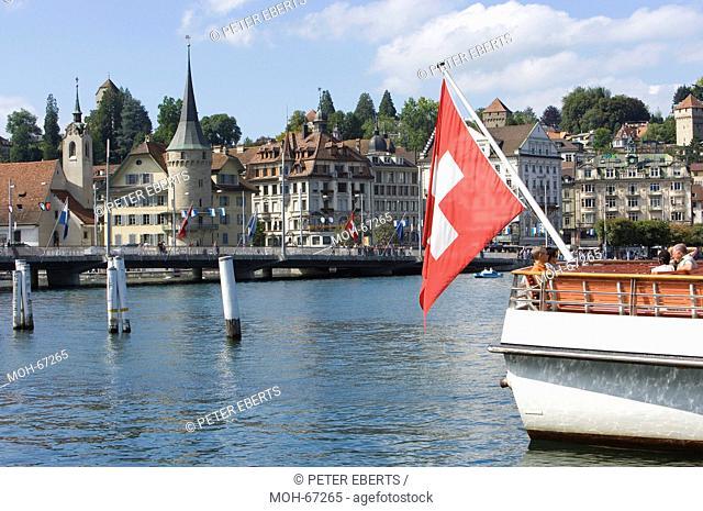 Kapellbrücke, Luzern, Schweiz, Stadtansicht