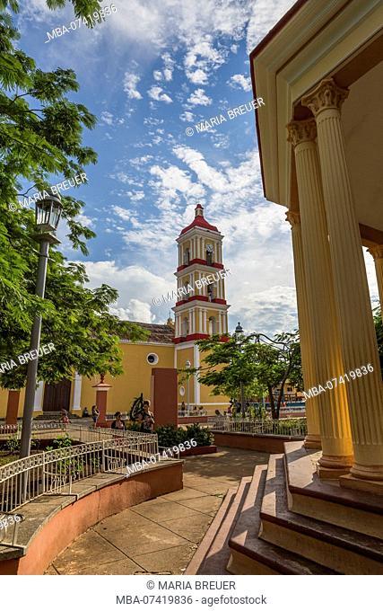 San Juan Batista Church, Plaza Marti, Remedios, Santa Clara Province, Cuba, Cuba, Greater Antilles, Caribbean