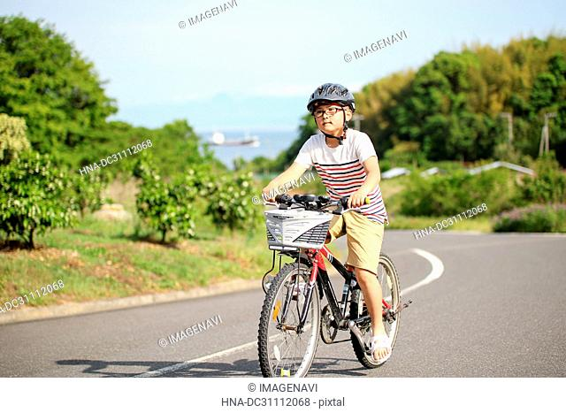 Children Cycling