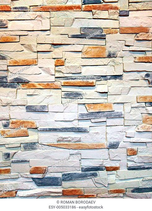 Interior wall decorated with stone as abstract background