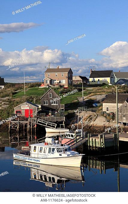 Port of historic fishing port Peggys Cove, Nova Scotia, Canada, North America
