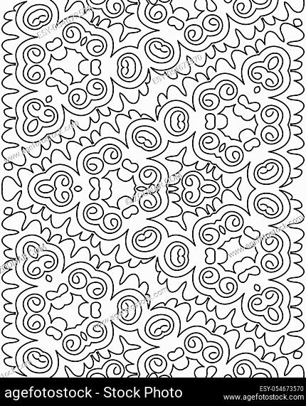 seamless coloring pattern