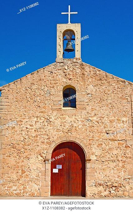 The church of San Ferran in the island of Formentera Baleares, Spain