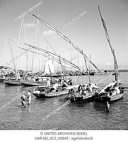 Die Feira de Agua de Meninos in Salvador, Brasilien 1960er. The Feira de Agua de Meninos in Salvador, Brazil 1960s