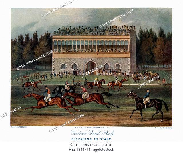 'Goodwood Grand Stand, Preparing to Start', 1836