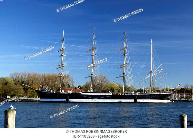 Museumsschiff museum ship Passat at the port of Travemuende, Hanseatic City of Luebeck, Holstein, Schleswig-Holstein, Germany, Europe