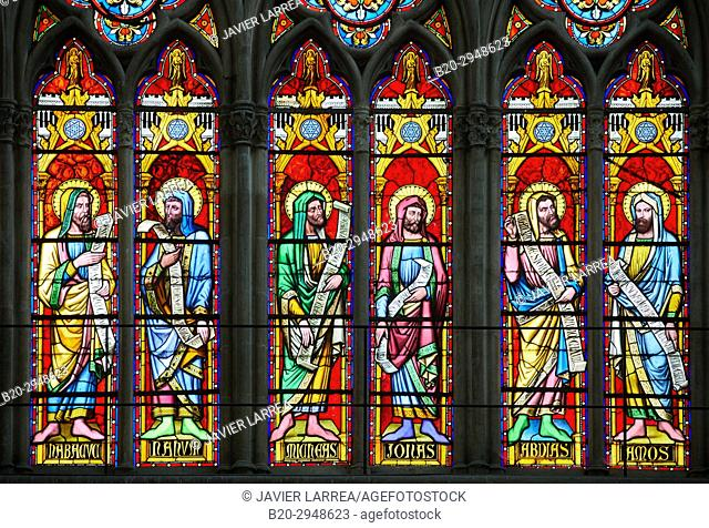 stained glass windows, Cathedrale Saint-Pierre Saint-Paul, Troyes, Champagne-Ardenne Region, Aube Department, France, Europe
