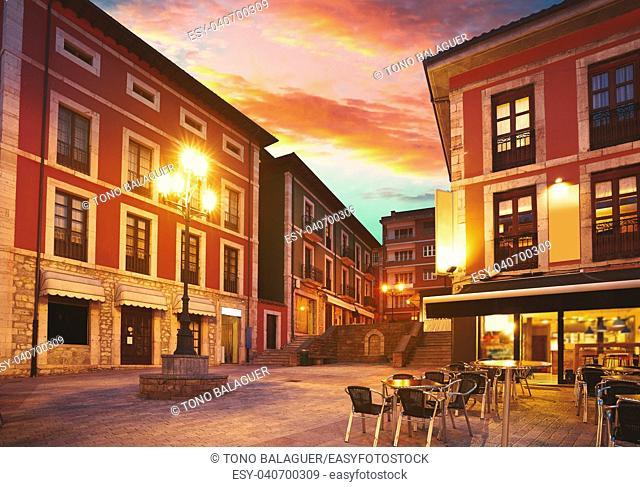 Llanes village sunset in Asturias of Spain