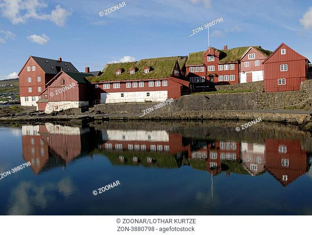 Government buildings, Tinganes peninsular, Torshavn, Faroe islands