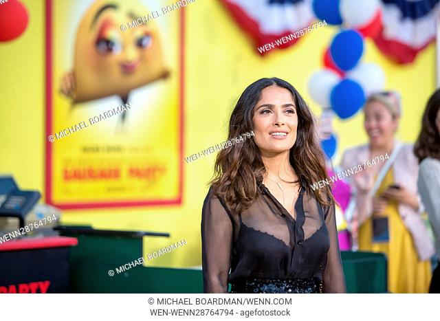 Salma Hayek attending the Los Angeles premiere of Sony's 'Sausage Party' at the Regency Village Theatre in Westwood, California Featuring: Salma Hayek Where:...