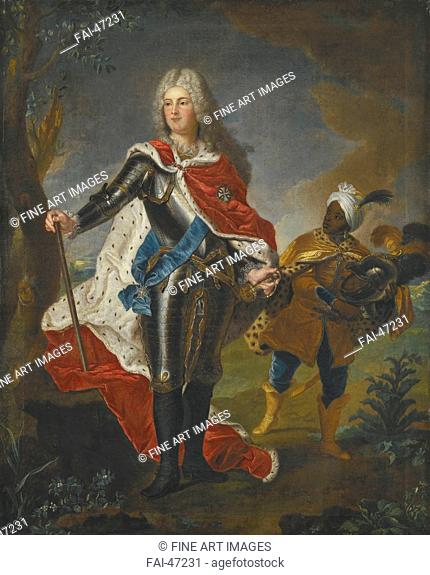 Portrait of Augustus III of Poland (1696-1763) by Rigaud, Hyacinthe François Honoré, Circle of /Oil on canvas/Baroque/France/Private Collection/79x63