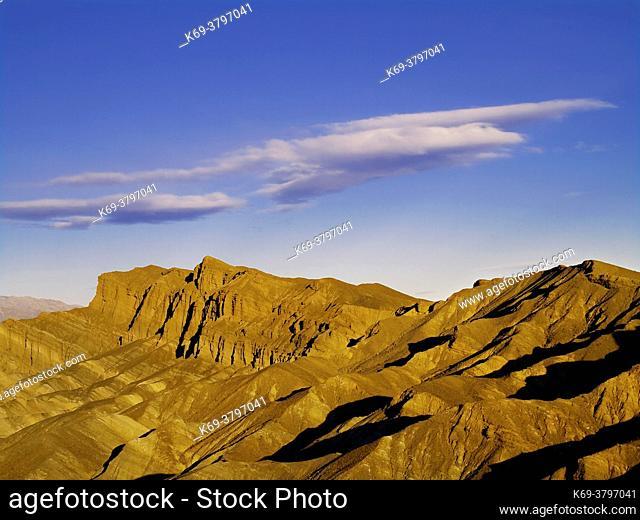 The Golden Canyon Mountains. . Death Valley National Park. . California/Nevada. USA