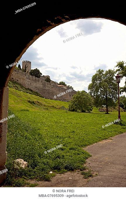 Wall, fortress, Kalemegdan, Belgrade, Serbia