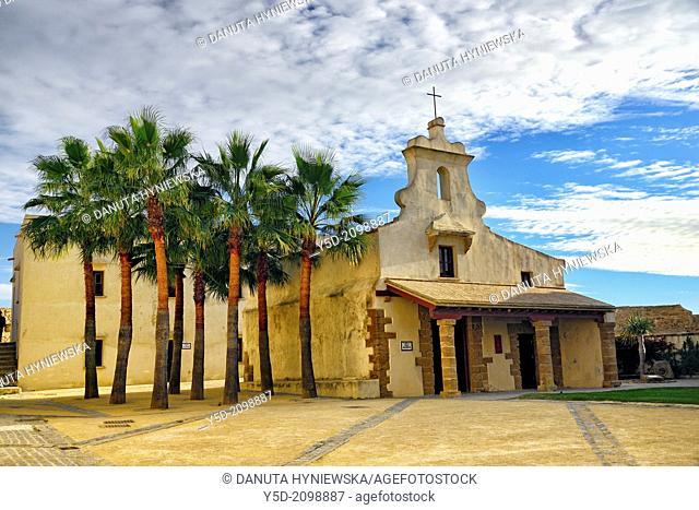 Courtyard of Castillo de Santa Catalina, Cádiz, Andalucía, España, Europa