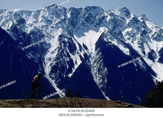 Mountain Biker, Pemberton, BC, Canada