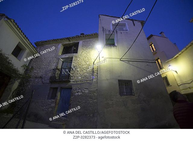 Beniali village by twilight Alicante Gallinera valley Spain