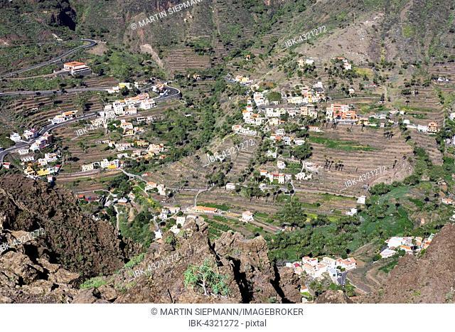 El Retamal and Lomo del Balo, Valle Gran Rey, La Gomera, Canary Islands, Spain