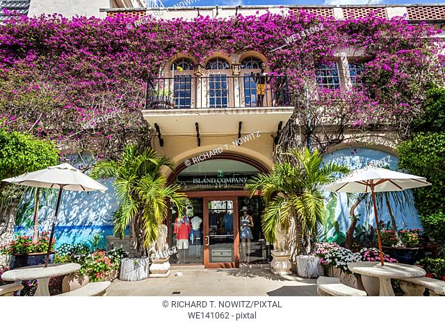 Retail store in Palm Beach in one of the many Spanish Revival Squares