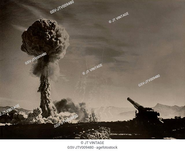 Atomic Cannon (Nuclear Artillery), Official U.S. Army photograph, 1950