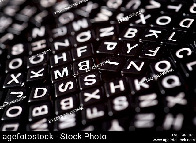 Letter cubes on a table
