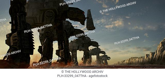 """""""""""""""Star Wars: The Last Jedi"""""""" (2017) AT-M6 Walkers, along with Kylo's Shuttle Lucasfilm Ltd"""