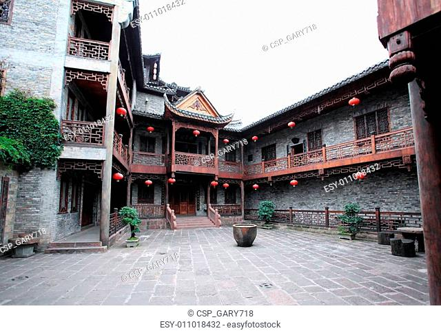 courtyard and houses in Phoenix Town in China