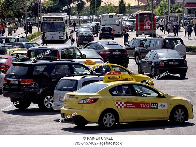 ALB , ALBANIA : Traffic in the inner city of Tirana , 27.05.2016 - Tirana, Tirana, Albania, 27/05/2016