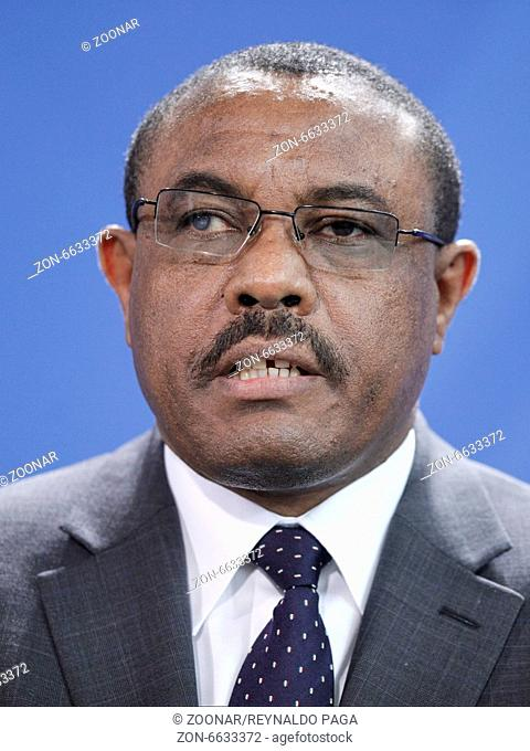 Hailemariam Desalegn Bosche, Prime Minister of Ethiopia and the German Chancellor Angela Merkel (CDU), give a joint press conference after meeting at the German...