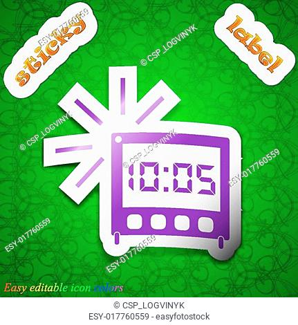 Clock watch with alarm and calendar Stock Photos and Images | age