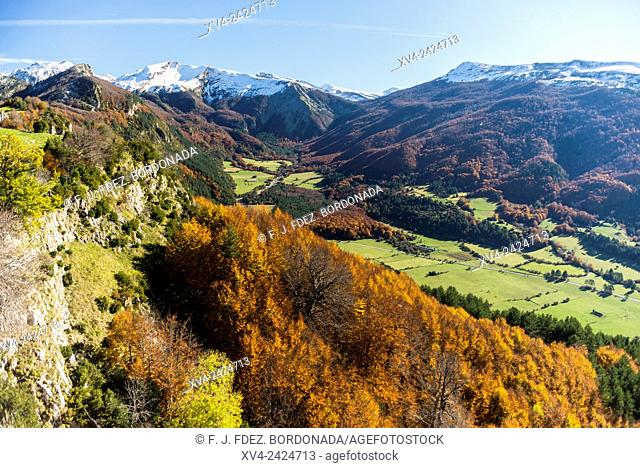 Panoramic views from Larra Belagua area in Roncal Valley, Navarre Pyrenees, Spain