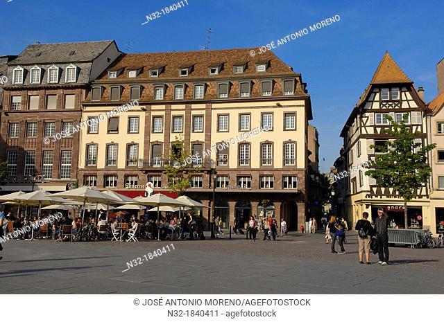 Strasbourg, Kleber square, UNESCO world heritage site, Place Kleber, Alsace, Bas Rhin, France, Europe