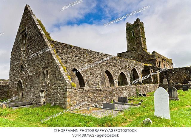 The ruins of Timoleague Abbey, Ireland, Europe