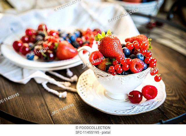 An arrangement of fresh berries
