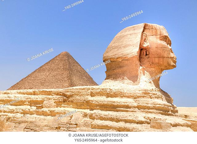 Great Sphinx of Giza, Giza, Cairo, Egypt, Africa