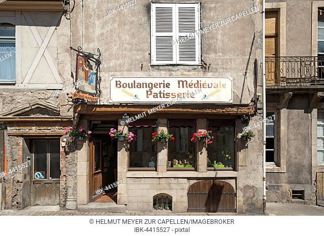 Old bakery in historic centre, Autun, Saône-et-Loire, France