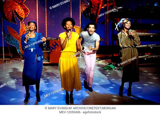 Liz Mitchell, Maizie Williams, Bobby Farrell & Marcia Barrett Boney M. 01 June 1979 Boney M., music, Musik, Pop-Gruppe, Pop-Group, 1979 /Personen