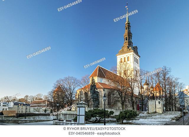 Tallinn, Estonia. Church Of St. Nicholas Niguliste Kirik Is Medieval Former Lutheran Church. Today Houses Of Branch Of Art Museum Of Estonia And Concert Hall