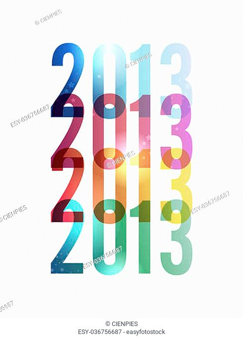 Contemporary happy New year 2013 colorful transparency background. EPS 10 vector illustration, cleanly built grouped and ordered in layers for easy editing