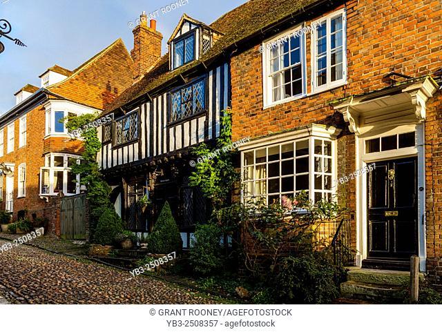 Period Houses In Mermaid Street, Rye, Sussex, UK