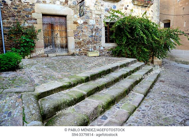 Stairs in the Jewish quarter of Caceres, Extremadura, Spain