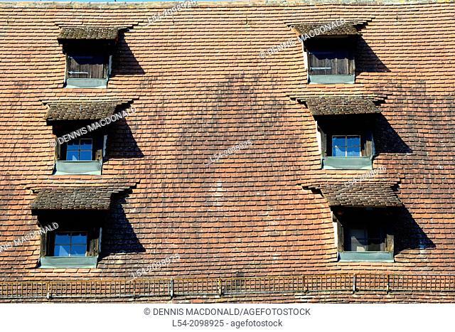 Window Eyelids Roof Bamberg Germany Deutschland DE Bavaria UNESCO