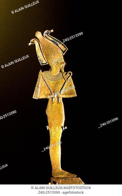 "Photo taken during the opening visit of the exhibition """"Osiris, Egypt's Sunken Mysteries"""". Egypt, Cairo, Egyptian Museum"