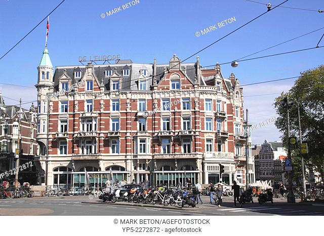 Hotel De l'Europe in the Old Side district Amsterdam Holland