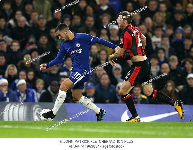 2017 Carabao Cup Quarter Final Chelsea v Bournemouth Dec 20th. 20th December 2017, Stamford Bridge, London, England; Carabao Cup quarter final