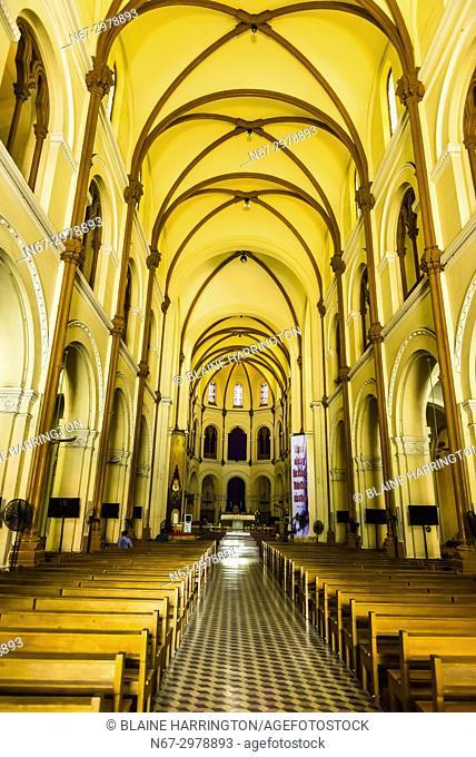 Interior view, Notre Dame Cathedral, Ho Chi Minh City (Saigon), Vietnam