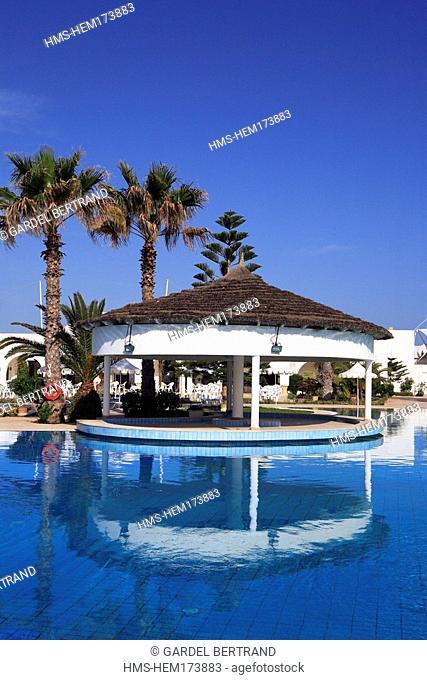 Tunisia, Southern Tunisia, Djerba, swimming pool of the Hotel Iliade 4